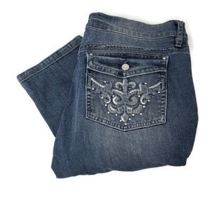 WHBM | The Sweet Life Ankle Blue Jeans | Size 12
